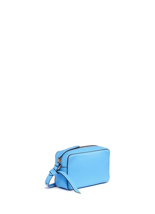 Detail View - Click To Enlarge - Anya Hindmarch - 'Circle' mini interlocking strap leather crossbody bag