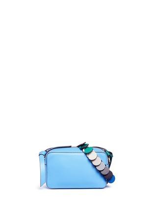 Main View - Click To Enlarge - Anya Hindmarch - 'Circle' mini interlocking strap leather crossbody bag