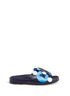 Anya Hindmarch'Radius' geometric circus leather slide sandals