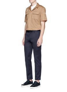 Neil BarrettShort sleeve cotton safari shirt