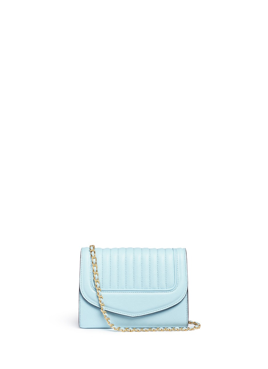 Jeanne PM quilted leather flap shoulder bag by Reflections Copenhagen