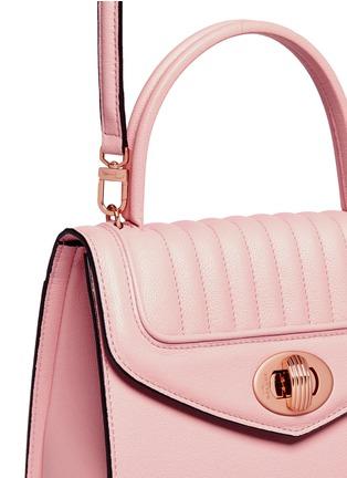 - Delage - 'Freda Mini' leather crossbody satchel