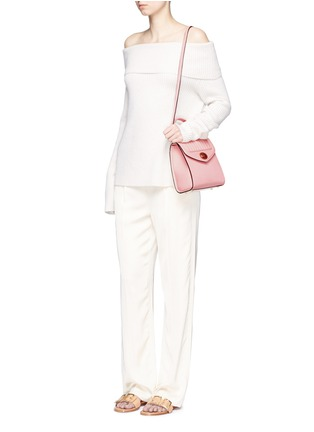 Front View - Click To Enlarge - Delage - 'Freda Mini' leather crossbody satchel