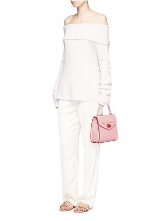 Figure View - Click To Enlarge - Delage - 'Freda Mini' leather crossbody satchel