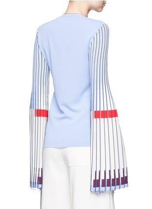 Back View - Click To Enlarge - MRZ - Plissé pleat trumpet sleeve sweater