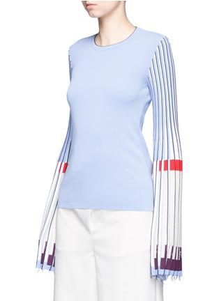 Front View - Click To Enlarge - MRZ - Plissé pleat trumpet sleeve sweater