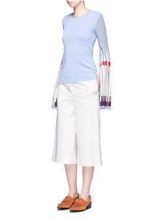 Figure View - Click To Enlarge - MRZ - Plissé pleat trumpet sleeve sweater
