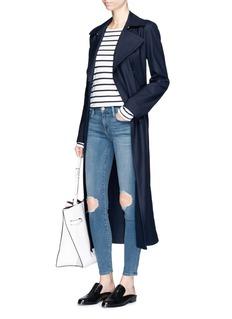 Frame Denim'Le Skinny de Jeanne' distressed knee cropped jeans