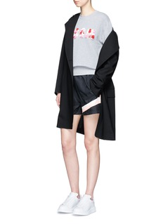 MSGMStripe logo print windbreaker shorts