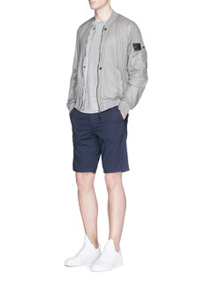 Stone IslandGarment dye poplin Bermuda shorts