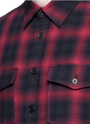 Detail View - Click To Enlarge - SAINT LAURENT - Tartan plaid cotton shirt