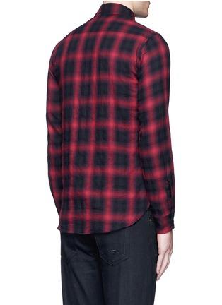 Back View - Click To Enlarge - Saint Laurent - Tartan plaid cotton shirt