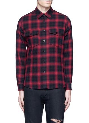 Main View - Click To Enlarge - Saint Laurent - Tartan plaid cotton shirt