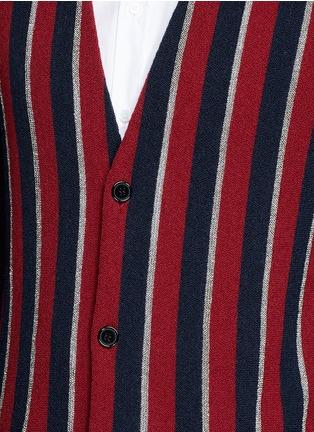 细节 - 点击放大 - SAINT LAURENT - 拼色条纹混羊毛针织衫
