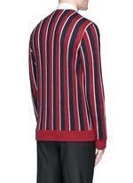 Metallic stripe wool cardigan