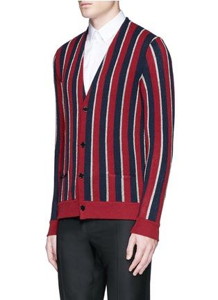 正面 -点击放大 - SAINT LAURENT - 拼色条纹混羊毛针织衫