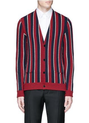首图 - 点击放大 - SAINT LAURENT - 拼色条纹混羊毛针织衫