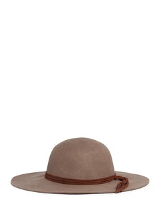 Sensi Studio 'Lauren' feather braided suede band wool felt hat