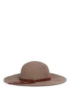 Sensi Studio'Lauren' feather braided suede band wool felt hat
