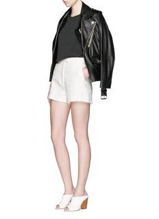 3.1 Phillip LimLinen-cotton flat front shorts