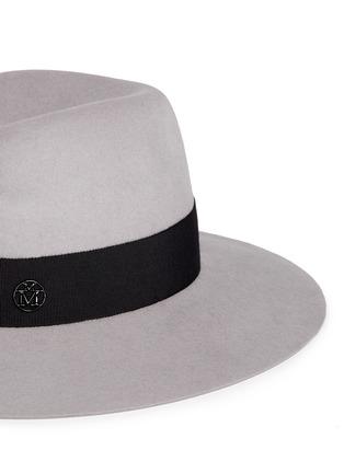 Detail View - Click To Enlarge - Maison Michel - 'Virginie' swirl rabbit furfelt fedora hat