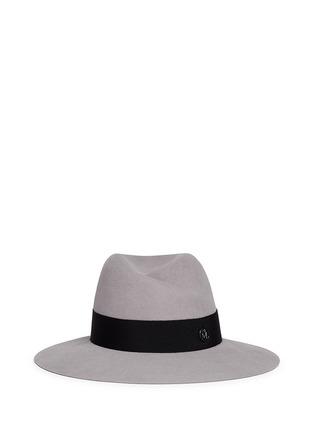 Main View - Click To Enlarge - Maison Michel - 'Virginie' swirl rabbit furfelt fedora hat