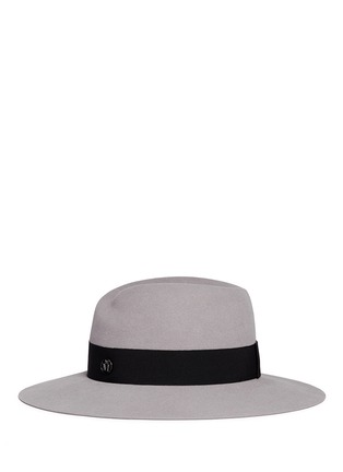 Figure View - Click To Enlarge - Maison Michel - 'Virginie' swirl rabbit furfelt fedora hat