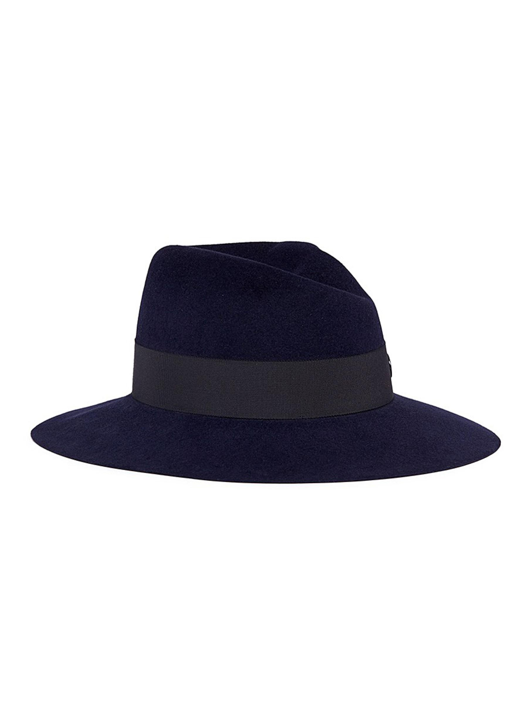 maison michel female virginie swirl rabbit furfelt fedora hat