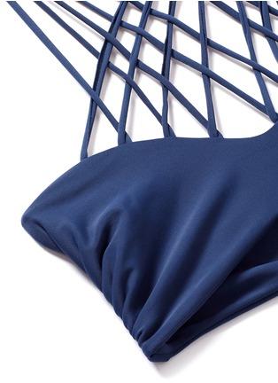 Detail View - Click To Enlarge - Mikoh - 'Kahala' crisscross lattice halter bikini top