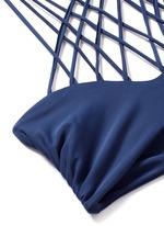 'Kahala' crisscross lattice halter bikini top