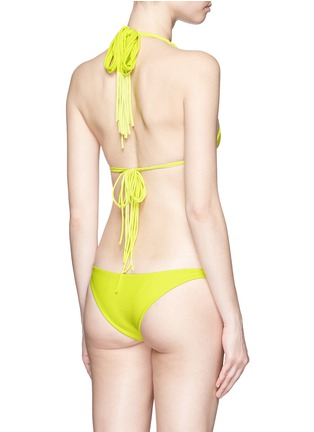 Back View - Click To Enlarge - Mikoh - 'Kula' woven strap triangle bikini top