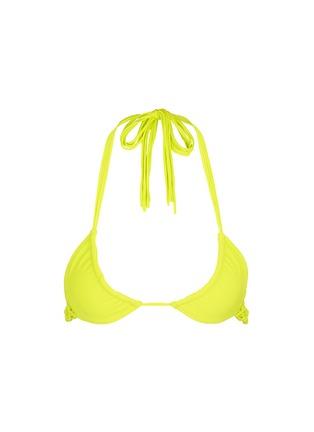 Main View - Click To Enlarge - Mikoh - 'Kula' woven strap triangle bikini top