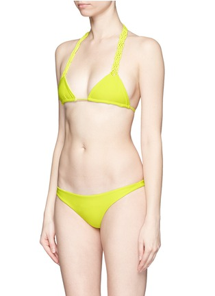 Figure View - Click To Enlarge - Mikoh - 'Kula' woven strap triangle bikini top