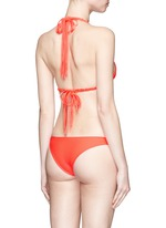 'Indies' macramé triangle bikini top