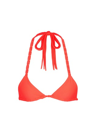 Main View - Click To Enlarge - Mikoh - 'Indies' macramé triangle bikini top