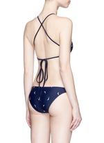 'Guns All Over' embroidery bikini brief bottoms