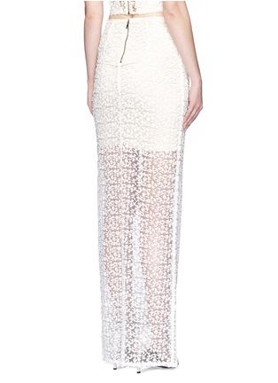 Back View - Click To Enlarge - alice + olivia - 'Misha' lace sheer hem maxi skirt