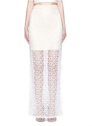 Main View - Click To Enlarge - alice + olivia - 'Misha' lace sheer hem maxi skirt