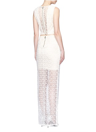 Figure View - Click To Enlarge - alice + olivia - 'Misha' lace sheer hem maxi skirt