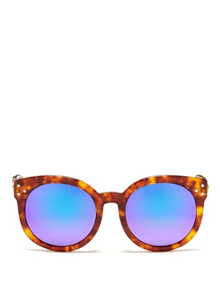 Main View - Click To Enlarge - Spektre - 'Isabel' tortoiseshell effect acetate mirror sunglasses