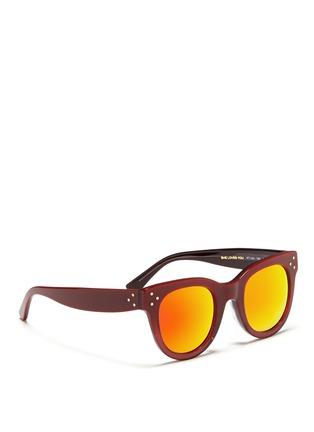 模特儿示范图 - 点击放大 - SPEKTRE - SHE LOVES YOU板材粗镜框太阳眼镜
