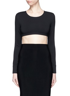 Norma Kamali Raw edged trim stretch cropped top