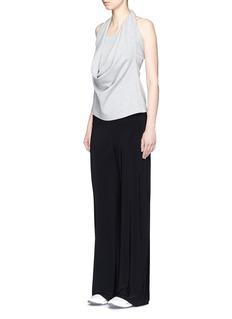 Norma Kamali'Go Straight' stretch jersey pants