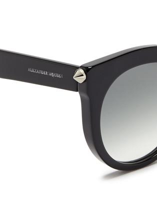 Alexander McQueen-Piercing bar stud acetate round sunglasses