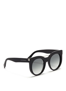 ALEXANDER MCQUEENPiercing bar stud acetate round sunglasses