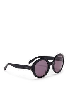 ALEXANDER MCQUEENPiercing hinge acetate round sunglasses