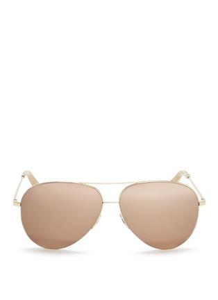 Victoria Beckham-'Classic Victoria' mirror aviator sunglasses