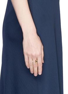 Delfina Delettrez'Eyes on Me' diamond 18k yellow gold open ring
