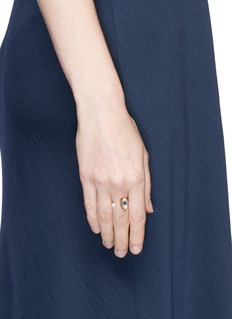 Delfina Delettrez 'Eyes on Me' diamond sapphire 18k gold open ring