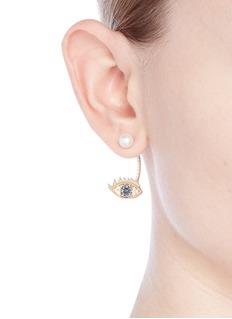 Delfina Delettrez'Eye Piercing' diamond 18k yellow gold single earring